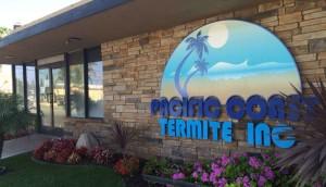 Pacific Coast Termite office sign