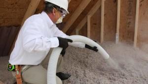 TAP insulation installation in attic