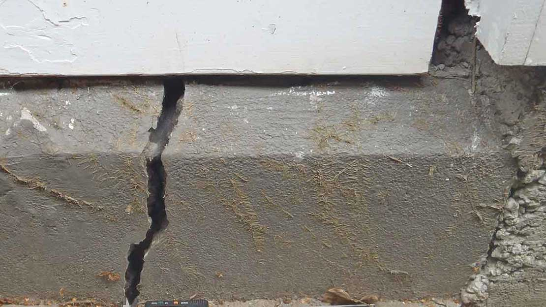 earthquake damge creates termite openings